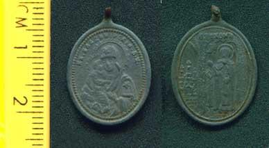 Иконка - образок Богоматерь Владимирская